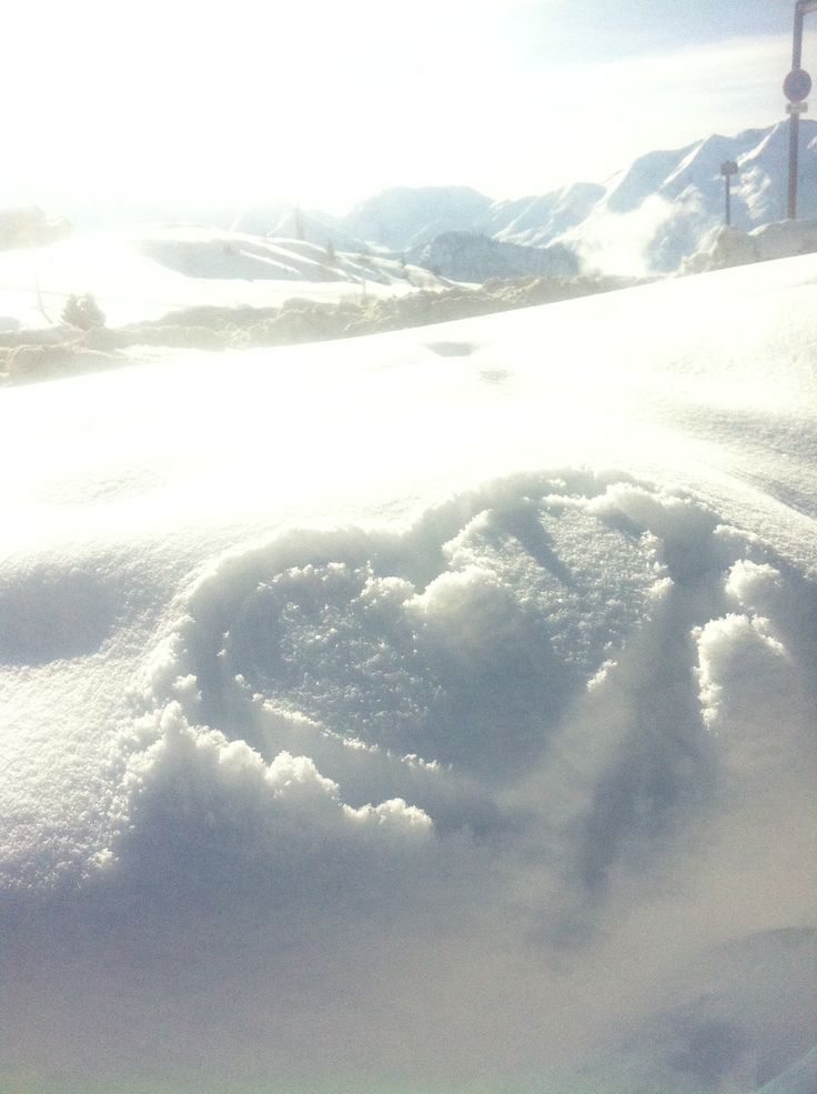 Cœur / neige / alpes