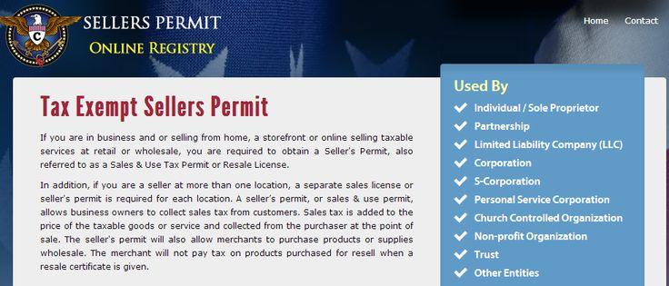 online seller permit