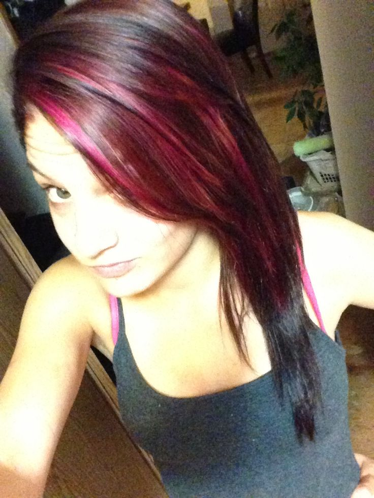 Brown Hair With Pink Highlights Crazy Hair Inspiration