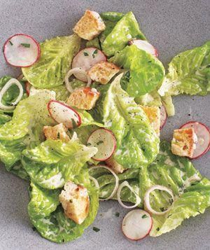 Bibb and Radish Salad With Buttermilk Dressing recipe from realsimple ...