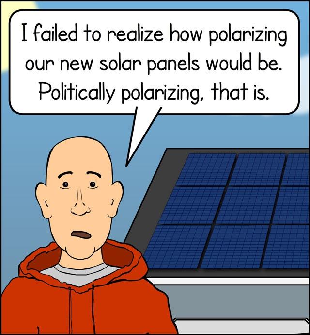 Solar Flair: The Politics of Solar Panels [Click for full comic]
