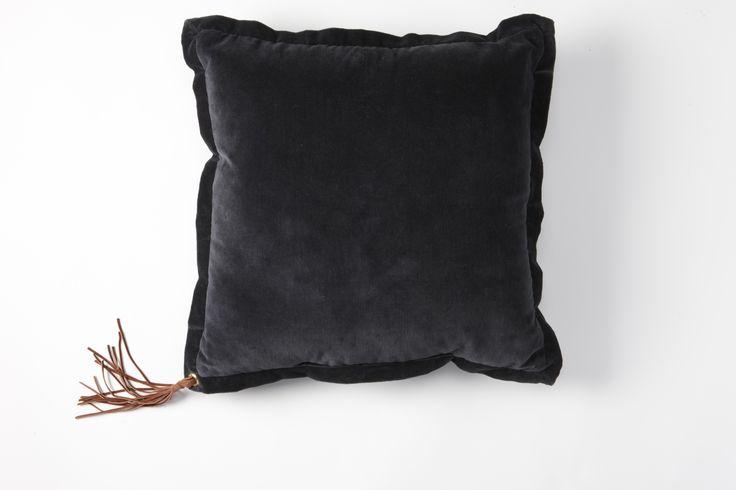 Nathan Santos Berkus Velvet Tassel Decorative Pillow | Nate Berkus