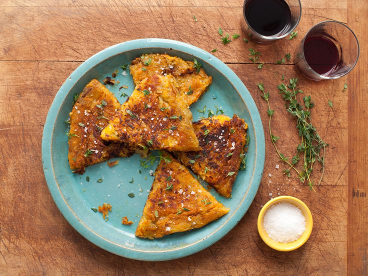 Crispy Two-Potato Cake (Russet & Sweet Potatoes) from FoodNetwork.com