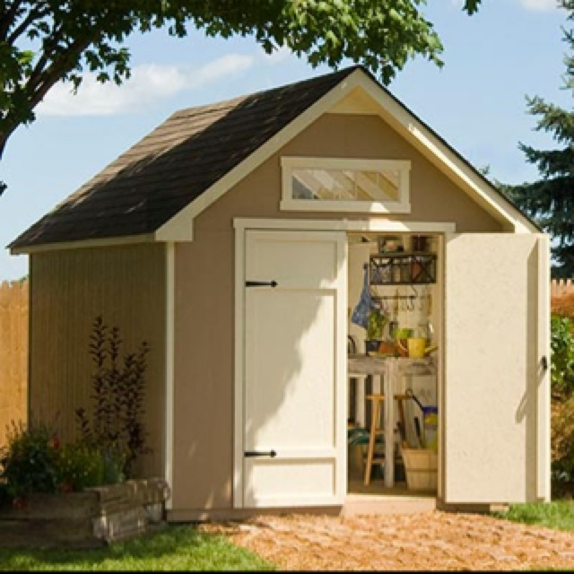 Cute Functional Garden Shed Cute Storage Sheds Pinterest