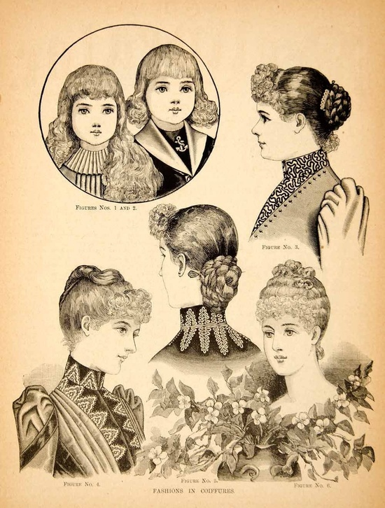 Victorian hairstyles. Victorian Pinterest