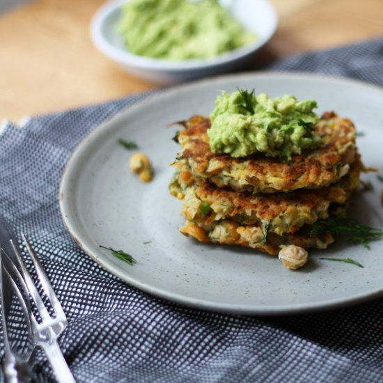 Chickpea, Dill & Yellow Squash Fritters | Recipes | Pinterest