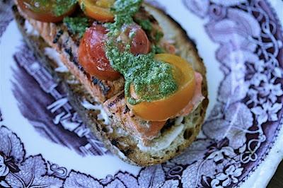 Grilled Salmon Sandwiches | H E A L T H Y L I F E | Pinterest