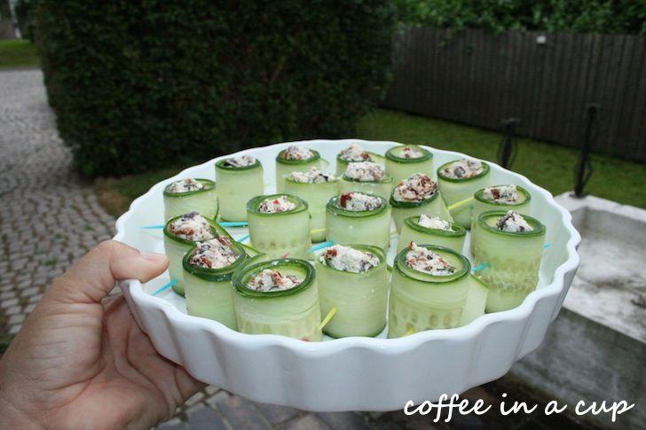 recipe: cucumber feta rolls | Food | Pinterest