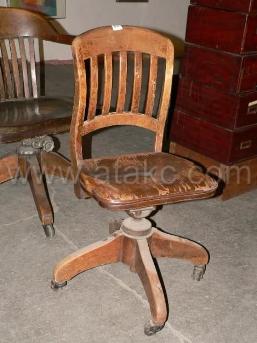 old wooden swivel desk chair furniture pinterest