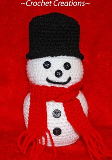 free snowman pattern, http://amray1976.blogspot.com/2011/11/crochet-snowman.html