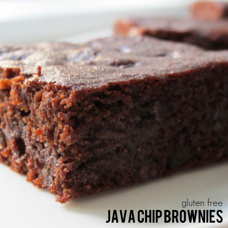 Java Chip Brownies. Gluten free, allergen free, vegan