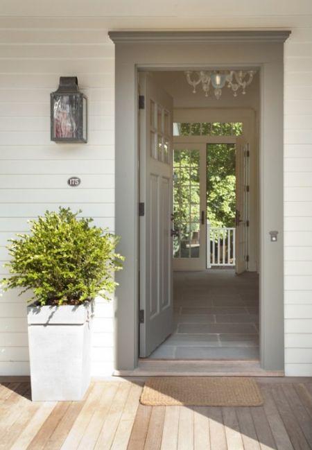 Front Door Color And Interior Floor Painting Ideas
