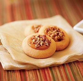 NUTTY CARAMEL THUMBPRINT COOKIES http://www.finecooking.com/recipes ...