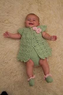 Springtime Baby Set. Free Pattern.