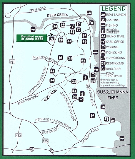 Trail guide at susquehanna state park healthy living for Susquehanna state park cabins