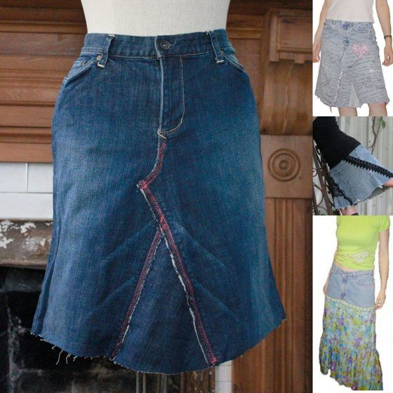 how to make a jean skirt recycled denim diy