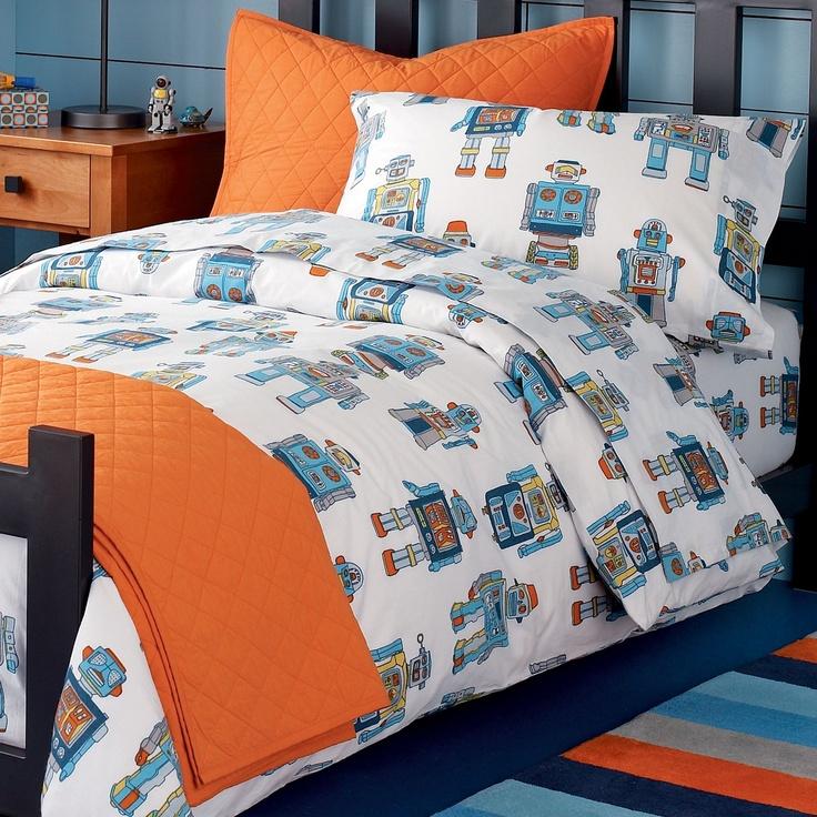 Robots boys bedroom pinterest for Robot bedroom