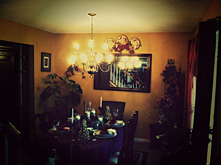 Dining room christmas scene i love home decor vintage everything Pinterest everything home decor
