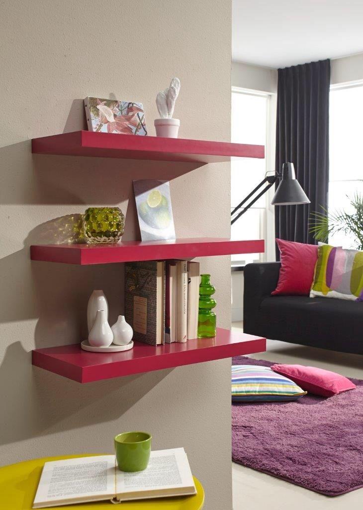 Colourful Floating Shelves Inspiration For Living Room Pinterest