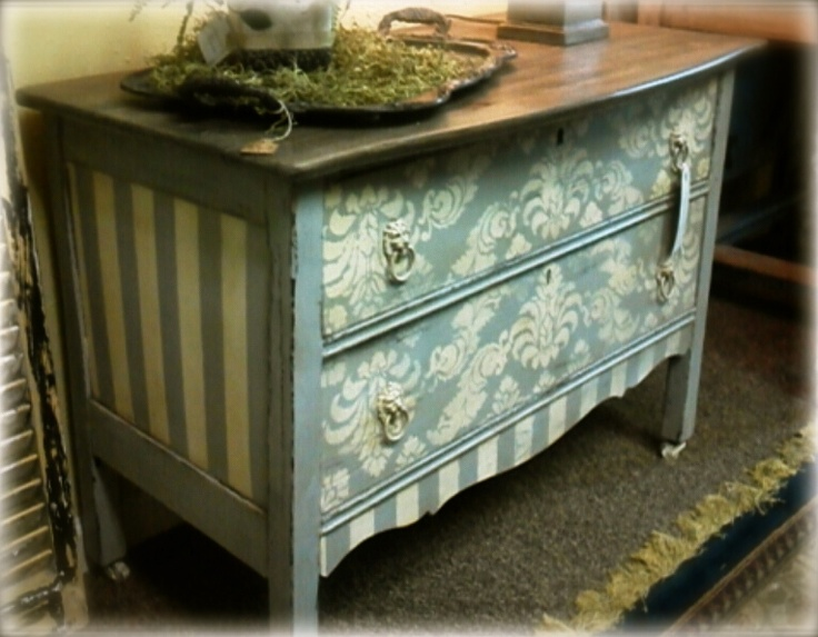 pretty repurposed chest of drawers painted with chalk