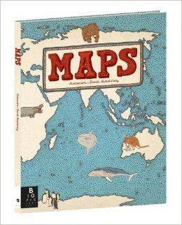 Nonfiction.  Maps by Aleksandra Mizielinska and  Daniel Mizielinski.  Stunning oversized book to pore and dream over for hours.  Recommended by The PlanetEsme Plan.