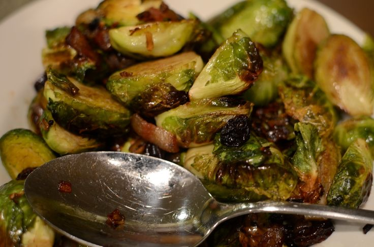 Bacon-Roasted Brussels Sprouts - MUST TRY!!