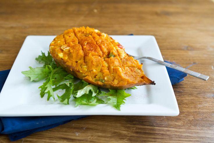 Stuffed Curry Sweet Potato