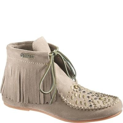Hush Puppies AS Glam Wallaby Women's Casual Shoes (9 M in Taupe Suede