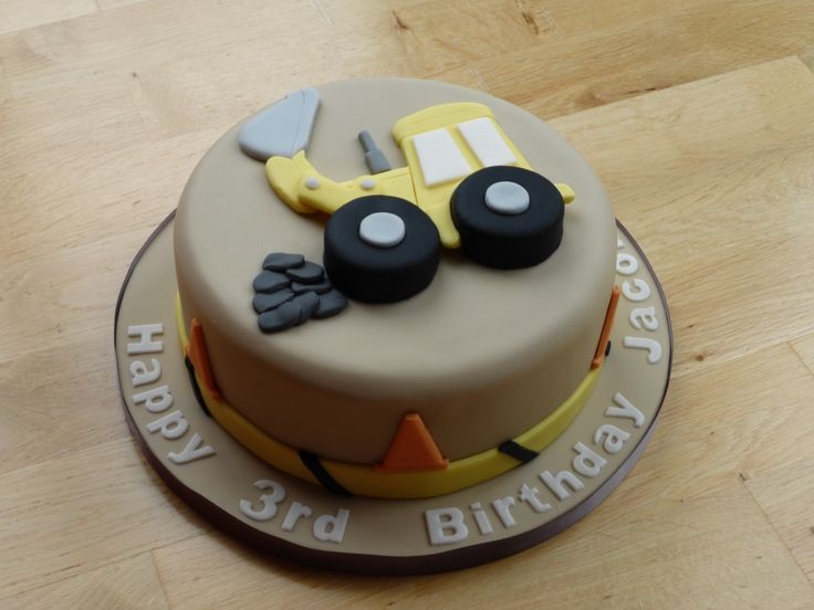 Birthday Cake Ideas Digger : Digger themed birthday cake. Birthday Cakes Pinterest