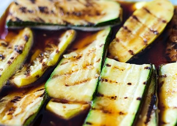 Grilled & Marinated Summer Squash 1c water, 2 T soy sauce, 1 T sugar ...