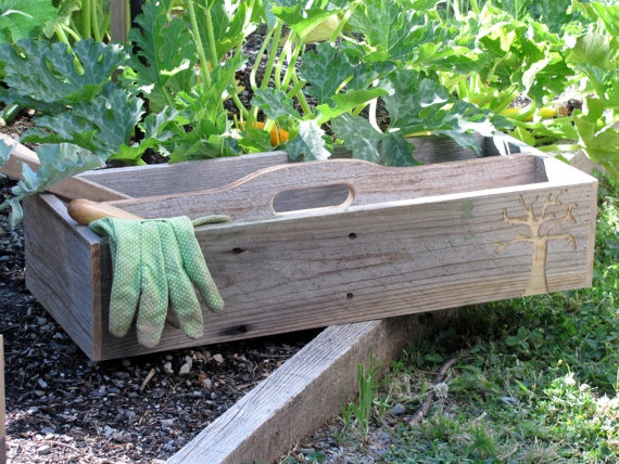 Garden box made of reclaimed wood