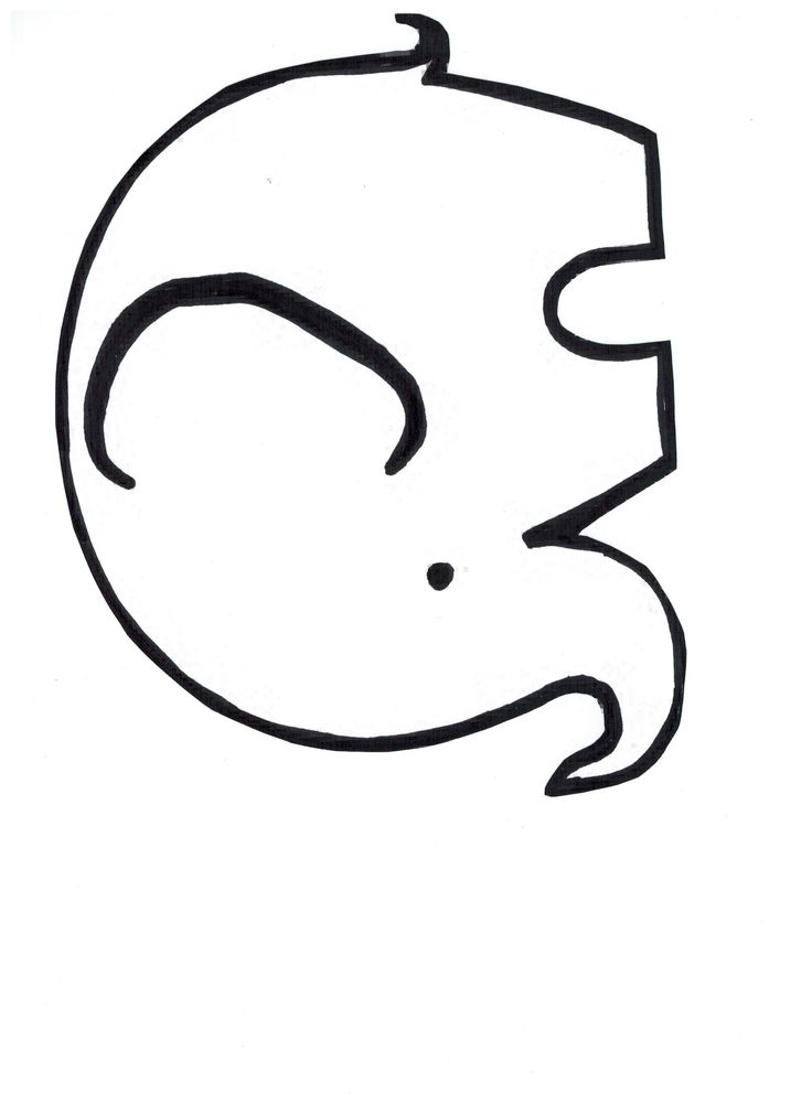 It's just an image of Gratifying Elephant Outline Printable