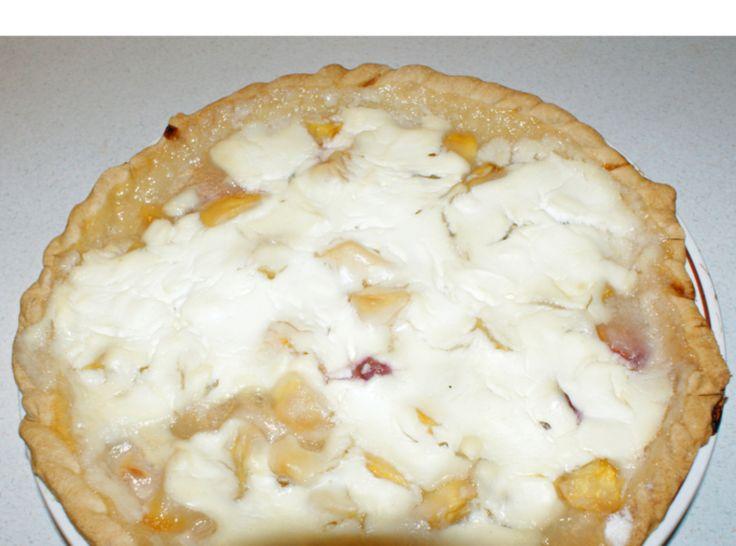 Sour Cream Peach Pie | Desserts | Pinterest