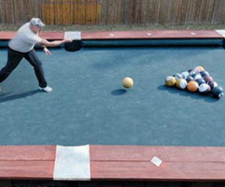 Huge Backyard Pool Table : Bowling billiards!  Billiards Universe  Pinterest