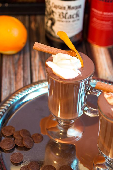 Orange Cinnamon Spiked Hot Chocolate #CaptainsTable - The Girl in the ...