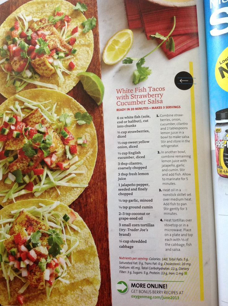 White Fish Tacos with Strawberry Cucumber Salsa
