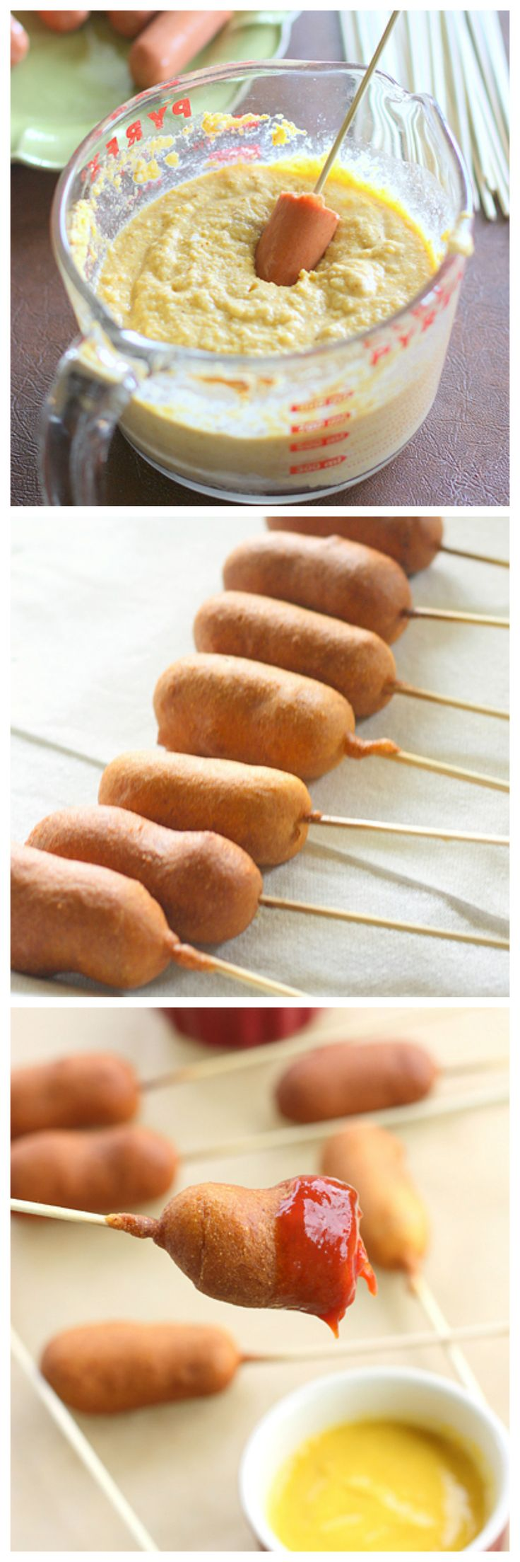 Easy Corn Dogs on a Stick -- ready in 15 minutes! What a great ...