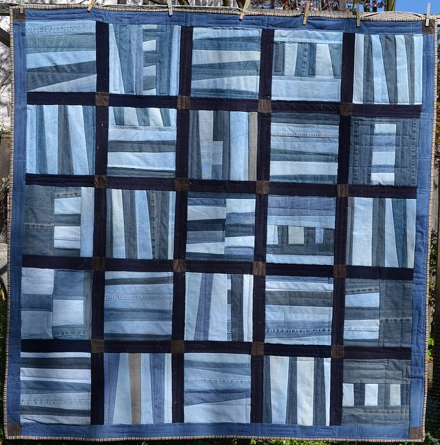 denim quilt: this might be the way to use all the denim I have saved to recycle into a project