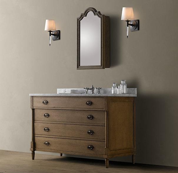 Directoire Extra-Wide Single Vanity Sink Bathroom Pinterest