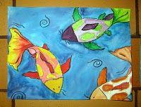 watercolor, crayon resist, warm/cool, water unit