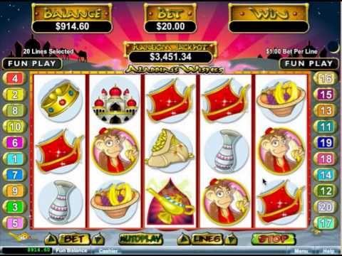 free aladdins wishes slot payouts
