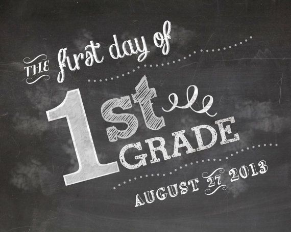 Kids customizable chalkboard first day of school by mommypia, $8.00