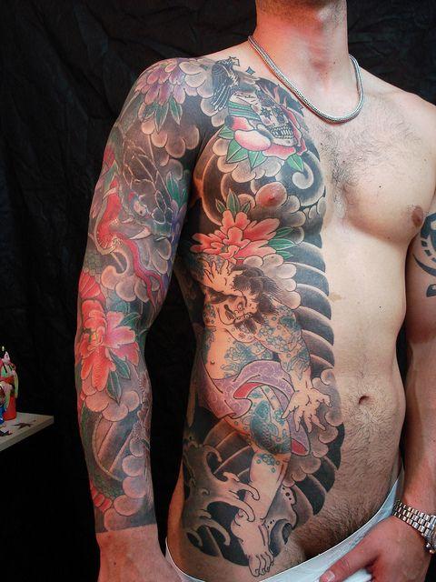 Half Body Japanese Tattoo