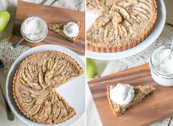 Sugar and Charm: pear tart with brown butter, rum and pecans