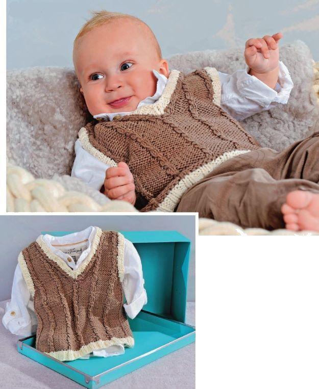 Вязание жилетки для грудничков