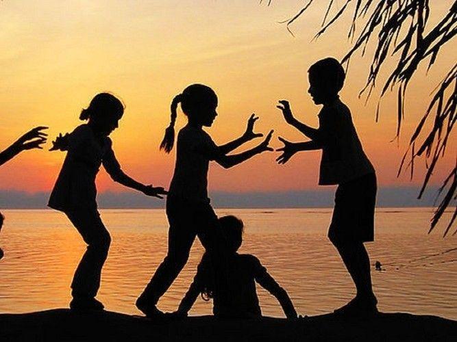 children playing silhouette - photo #19