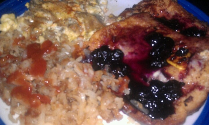 Laura's Creation--Honey Apple French Toast with Jellied Blueberry ...