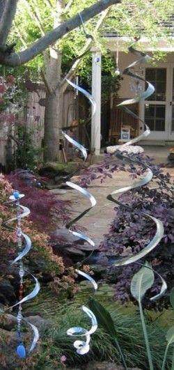Wind Spirals - Garden Junk