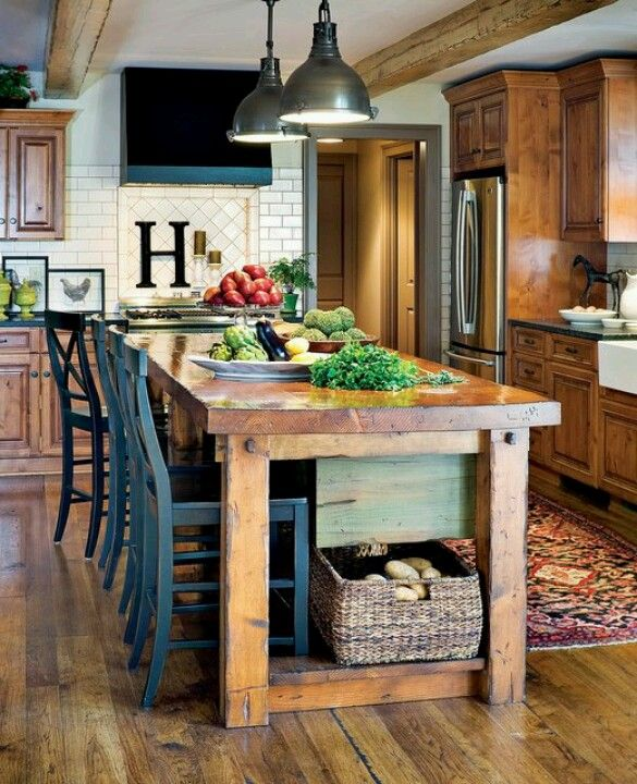 table instead of the classic island for the home pinterest which is for you kitchen table or island