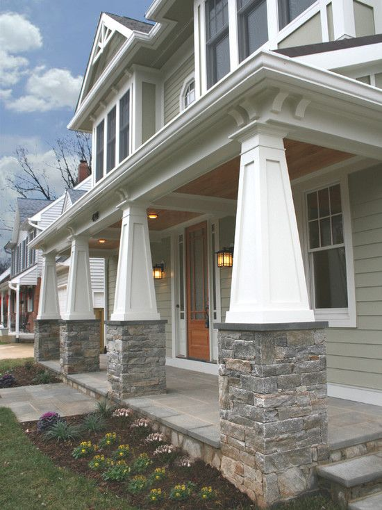 Front Exterior Columns And Flooring Dream Home Pinterest
